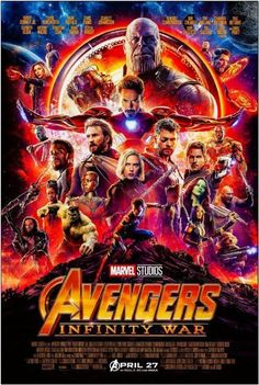 WATCH:>> Avengers: Infinity War (2018) : - Hier Kostenlos Filme herunterladen As the Avengers and their allies have continued to protect the world from threats too large for any one hero to handle, a new danger has emerged from the cosmic shadows: Thanos. A despot of intergalactic infamy, his goal is to collect all six Infinity Stones, artifacts of unimaginable power, and use them to inflict his twisted will on all of reality. Everything the Avengers have fought for has led up to this moment… The Avengers, Avengers Movies, Superhero Movies, Marvel Movies, Avengers Poster, Robert Downey Jr, Paul Bettany, Chris Hemsworth, Chris Pratt