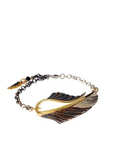 Jacey Withers Wing & Feather Bracelet