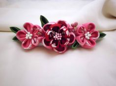 Hey, I found this really awesome Etsy listing at https://www.etsy.com/listing/179933112/colourful-flower-french-barrette-pink