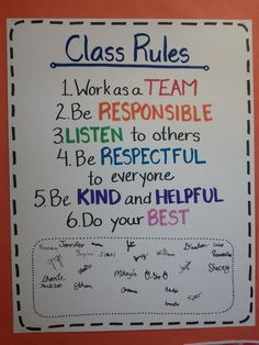 I love that the students get to sign this at the bottom, it will help them to feel like they agree to these rules, and the rules aren't just there for them to obey without say.