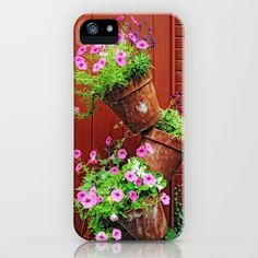 Potted Pansies iPhone & iPod Case by Captive Images Photography - $35.00