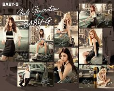 #SNSD #GIRLSGENERATION #CASIO #GG #BABYG More of SNSD's hot and cool pictures for Casio Watches ~ Wonderful Generation