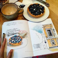 """It's a #blueberry kind of day Tasty #sketching from the #Leuchtturm1917 of…"