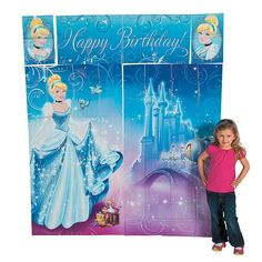 Cinderella Sparkle Scene Setter™ Wall Decorating Kit - OrientalTrading.com... If you keep it all together it is 75 inches tall... Big enough for us taller princesses!