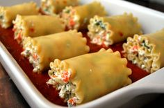 Vegetarian Lasagna Roll-Up Ingredients Recipe from Shire (mypetconcubine)