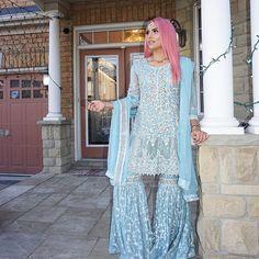 Pakistani Party Wear, Pakistani Wedding Outfits, Pakistani Couture, Pakistani Dresses, Indian Dresses, Indian Outfits, Pakistani Gharara, Wedding Dresses, Wedding Hijab