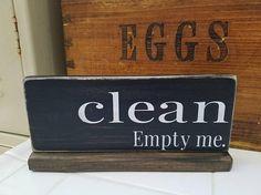 Clean Dirty Dishwasher Sign. Dishwasher wood sign kitchen