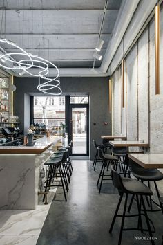 Madison beauty bar on Behance Cafe Shop Design, Coffee Shop Interior Design, Italian Interior Design, Bar Interior, Restaurant Interior Design, Café Bar, Deco Restaurant, Modern Restaurant, Bar Lounge