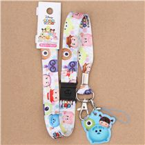 white Monsters Inc Toy Story Disney lanyard with charm
