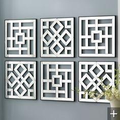 Bildergebnis für cut out canvas pattern Diy Wand, Cut Out Canvas, Mur Diy, Wall Design, House Design, Foyer Design, Design Bathroom, Bathroom Interior, Window Grill Design