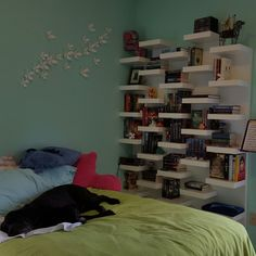 39 this is my ikea lack wall mounted book shelves i love the look of them particularly the way. Black Bedroom Furniture Sets. Home Design Ideas