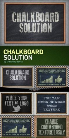 Chalkboard Solution PSD Template - 670929