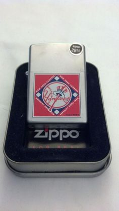 Zippo Lighter MLB New York Yankees Satin Chrome #22673 Factory Sealed New