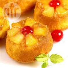 Petits gâteaux renversés à l'ananas @ qc.allrecipes.ca