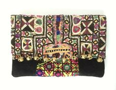 Poppy Clutch  Handcrafted from vintage textiles.