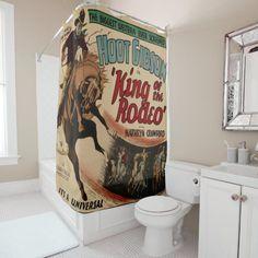 #BlackBathroomDecor Vintage Camper Interior, Think Small, Custom Shower Curtains, Western Shower Curtains, Rodeo, Westerns, Diy Home Decor, Canning
