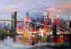 Kai Fine Art is an art website, shows painting and illustration works all over the world. Watercolor Architecture, Watercolor Landscape, Watercolor Paintings, New York Painting, City Painting, Cityscape Art, Art Corner, New York Art, Canvas Art