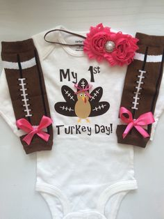 Hey, I found this really awesome Etsy listing at https://www.etsy.com/listing/241631016/infant-girl-thanksgiving-outfit-football