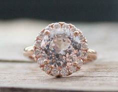 3.30 Cts. Diamond and White Sapphire by Studio1040 on Etsy, $1680.00