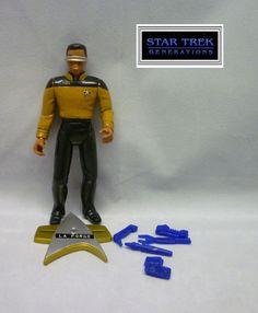 Playmates Star Trek Generations Movie - Geordi La Forge Loose & Complete Figure #PlaymatesToys