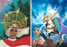 Бог Троян – сын Велеса и Марены. По поверьям, Троян явился воплощением мощи Сварога, Перуна и Велеса, соединивших свои силы в борьбе со Змеем, порождением Чернобога, грозившим некогда уничтожить всё Тремирье. В Древнерусской мифологии именно Перун (Троян) поражает копьём змея. Или известный бой Добрыни со Змеем. Однако после христианизации это местно было занято так называемым св. Георгием.