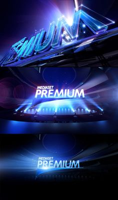 Mediaset Premium Rebranding by Angelsign Studio , via Behance
