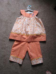 Orange Sherbert Capri Pants Set