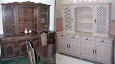 sala de jantar com móveis antigos pintados - Pesquisa Google