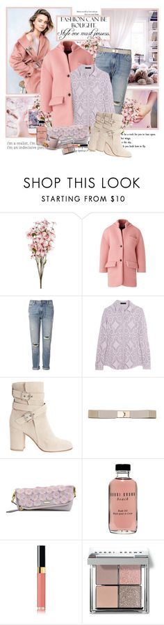 """""""Pastel winter"""" by artifashion-intelligence ❤ liked on Polyvore featuring Kerr®, Burberry, Whistles, Gianvito Rossi, Bobbi Brown Cosmetics, Chanel, women's clothing, women, female and woman"""