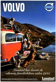 Volvo Duett (1953–1969) - Great photo in this ad for Laastad & Co., a Volvo dealer in Haugesund, Norway.