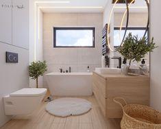 Szukasz pomysłu na zaprojektowanie kuchni lub łazienki? Sprawdź Przytulna łazienka w jasnych barwach. To może być coś dla Ciebie. Corner Bathtub, Alcove, Bath Mat, Bathroom, Design, Home Decor, Washroom, Decoration Home, Corner Tub