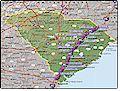 I-95 South Carolina map