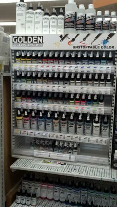 Great for mixed media enthusiasts, Golden High Flow Acrylics can be applied with airbrush, traditional brushes, fountain pens, and even acrylic paint markers!