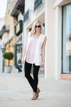Endless ways to wear the white vestFashion Column Twins