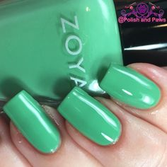 How much do you love Zoya? As I've mentioned before, probably a dozen times by now, Zoya started my nail polish obsession. So new Zoya collections make me all Green Nail Polish, Zoya Nail Polish, Nail Polish Colors, Hair And Nails, My Nails, Zoya Collection, Nail Arts, Pretty Nails, Swatch