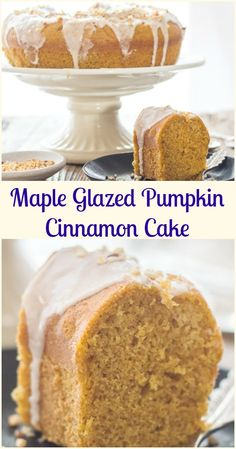 Maple Glazed Pumpkin Cinnamon Cake, a delicious Pumpkin Bundt Cake Recipe with a 3 ingredient Maple frosting. The perfect Fall Desert. More from my siteThis delicious cake mix cake has ribbons of cinnamon running through it. Pumpkin Cake Pops, Pumpkin Cake Recipes, Pumpkin Dessert, Pumpkin Pumpkin, Pumpkin Cakes, Fall Cake Recipes, Pumpkin Shaped Cake, Cinnamon Cake Recipes, Tuna