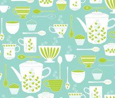 Retro Coffee fabric by kayajoy on Spoonflower - custom fabric