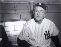 """October 1960 Five days after losing to the Pirates in Game 7 of the World Series, the Yankees fire Casey Stengel, believing he's too old to manage. A few days after his dismissal, the Stengel quips, """"I'll never make the mistake of being seventy again"""". Damn Yankees, Yankees Fan, New York Yankees Baseball, Sports Baseball, Baseball Players, Baseball Jerseys, Baseball Pitching, Baseball Stuff, Baseball Field"""