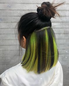 Green Wigs Lace Frontal Best Clip In Hair Extensions For Thin Hair Extensions For Fine Hair Hair Extensions Prices In Salons Hair Tinsel Salon Hair Extensions Prices, Extensions For Thin Hair, Hair Color Streaks, Hair Highlights, Aesthetic Hair, Grunge Look, Dye My Hair, Grunge Hair, Hair Looks
