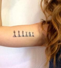 2 Vintage Chess Set Temporary Tattoos SmashTat by SmashTat on Etsy