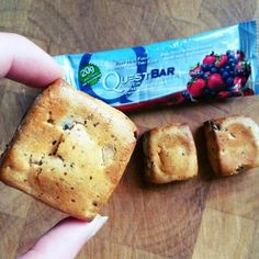 How do you make a Mixed Berry Bliss Quest Bar even better? You bake it! Thank you Becky for sharing you way of enjoying Quest Bars, Protein Shake Recipes, Protein Shakes, Healthy Eating Recipes, Healthy Snacks, Homemade Quest Bars, Bariatric Eating, Protein Pack, Skinny Recipes, Meatless Monday
