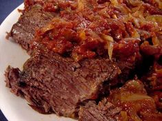 """Brisket for a Beginner: """"We had this after Rosh Hashanah and it was so good! The meat was soft and the sauce was just right."""" -Pneuma"""