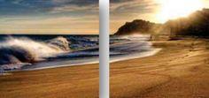 Das 2-teilige Glasbild »Brandung« macht Lust auf den nächsten Urlaub.  Artikeldetails:  Mit Aufhängevorrichtung, Brillanter Ink Jet Druck, Maße (B/H): 2x 49/49 cm,  Material/Qualität:  Glasbild,  ...