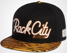 Cayler And Sons Rack City Bitch Animal Print Snapback Tiger Print Snapback Cap 6699! Only $8.90USD