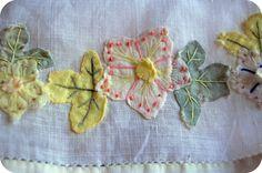 vintage applique handkerchief   Flickr - Photo Sharing!