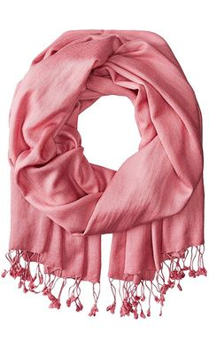 Betsey Johnson Women's Cashmere/Silk Real Pashmina Dusty Pink Scarf One Size Best Price