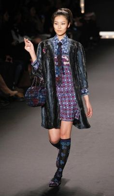 Anna Sui: She's been mixing patterns long before the trend caught on #NYFW