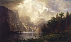 Albert Bierstadt Among the Sierra Nevada Mountains California art painting for sale; Shop your favorite Albert Bierstadt Among the Sierra Nevada Mountains California painting on canvas or frame at discount price. Sierra Nevada, Landscape Wallpapers, Landscape Art, Landscape Paintings, Oil Paintings, Landscapes, Fantasy Landscape, Sunrise Landscape, Watercolor Paintings