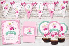 Kit Imprimible Peppa Pig Hada para cumpleaños de Nena