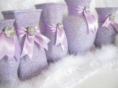 FROZEN Birthday, Lavender Baby Shower Decorations, Sweet 16, Lavender Wedding, Lavender Bridal Shower, Quinceanera Centerpiece, FROZEN Favor